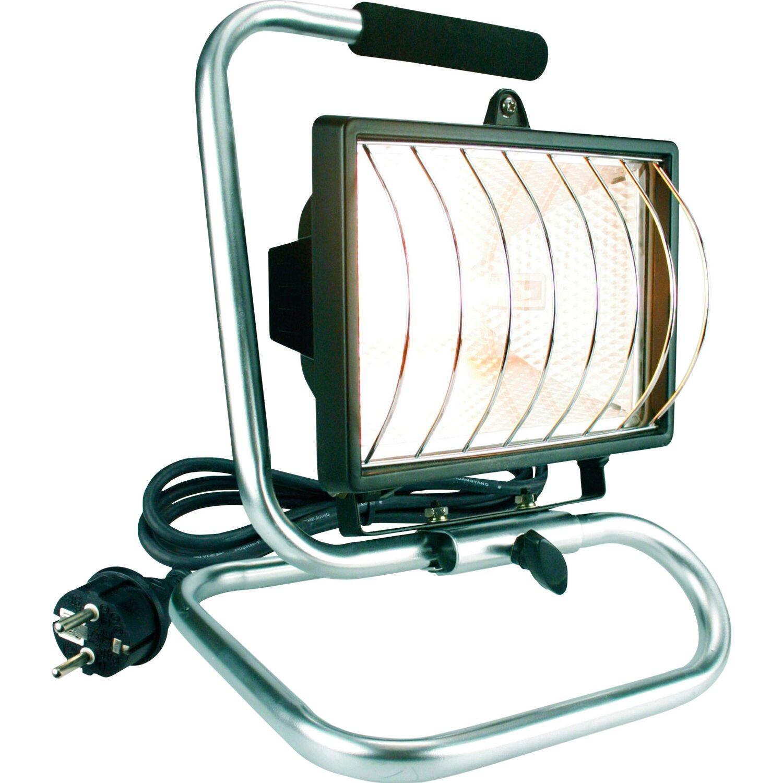 Halogenstrahler tragbar 400 W EEK: C | Lampen > Leuchtmittel > Halogenstrahler | Silber/schwarz
