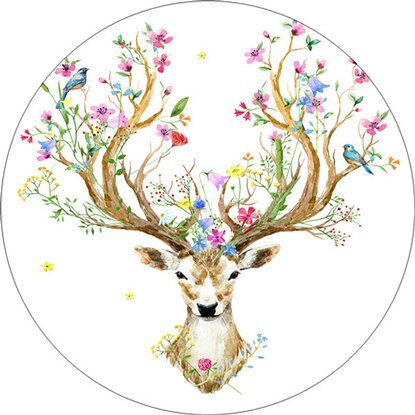 Glasbild Beautiful Deer 30 cm x 30 cm