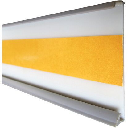 pvc einschubleiste silbergrau 60 mm x 7 mm l nge 2500 mm kaufen bei obi. Black Bedroom Furniture Sets. Home Design Ideas