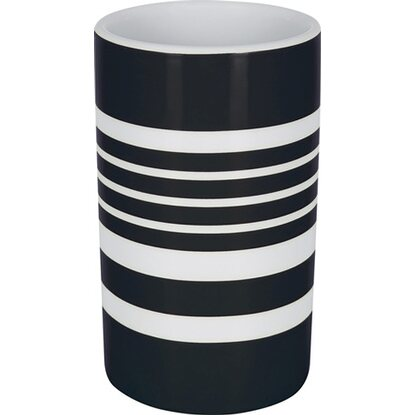 Spirella Zahnbecher Tube-Stripes Black