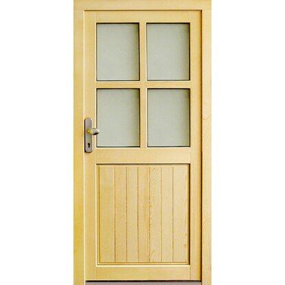 Sehr Holz-Nebeneingangstür NET 502 Fichte Natur 98 cm x 200 cm Anschlag DE55
