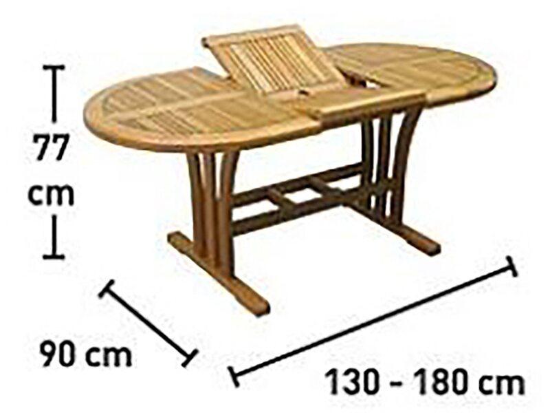 Gartentisch Chelsea Fsc Holz Oval Natur 130 Cm X 90 Cm Kaufen Bei Obi