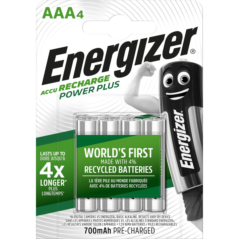 Energizer NiMH Akku Power Plus Micro (AAA) 700 mAh 4 Stück Preisvergleich