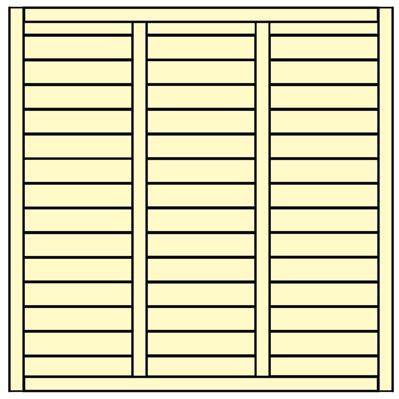 Sichtschutzzaun element limone geschlossen wei 180 cm x - Paneles de madera para exterior ...