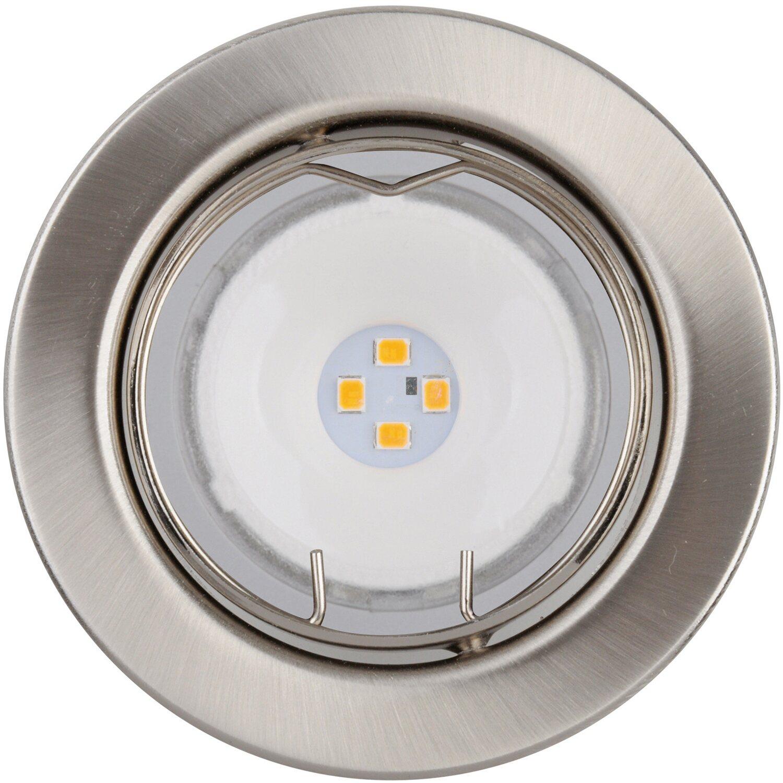 OBI LED-Einbauleuchten 3er-Set Nickel gebürstet EEK: A+ kaufen bei OBI