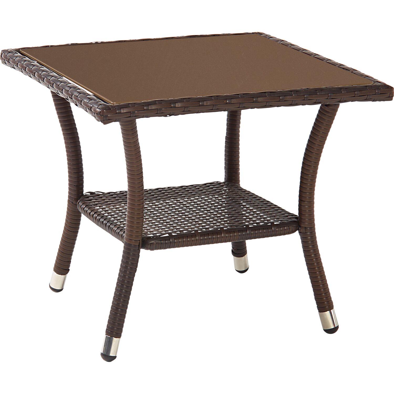 obi beistelltisch davenport ii braun eckig kaufen bei obi. Black Bedroom Furniture Sets. Home Design Ideas