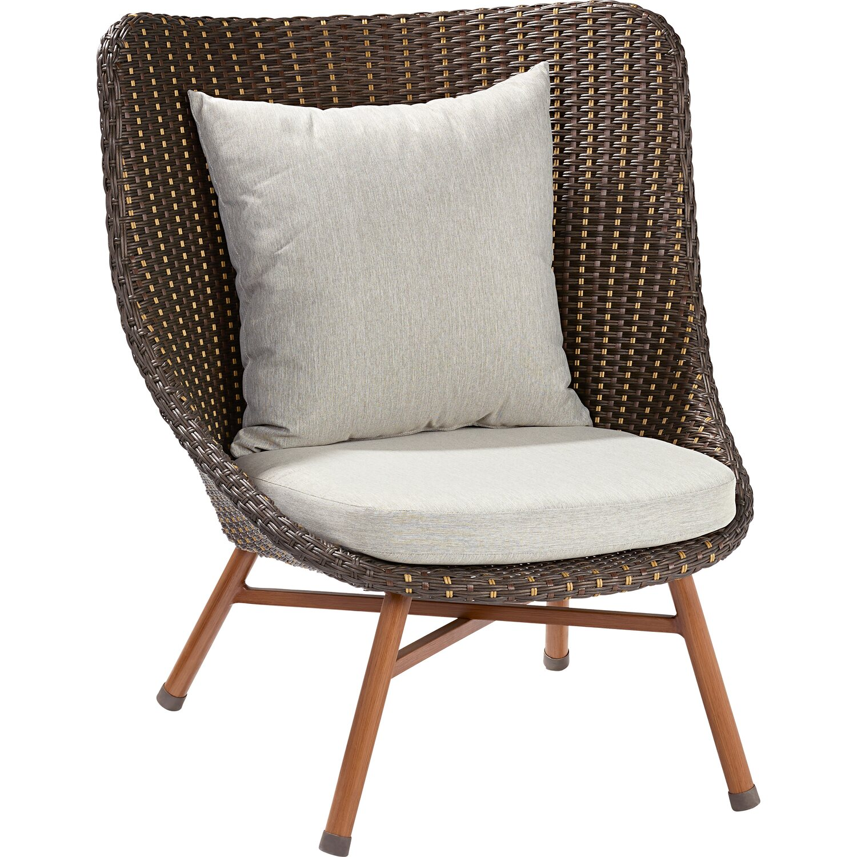 Polyrattan lounge sessel schwarz  OBI Lounge-Sessel Bonfield Polyrattan inkl. Hocker kaufen bei OBI