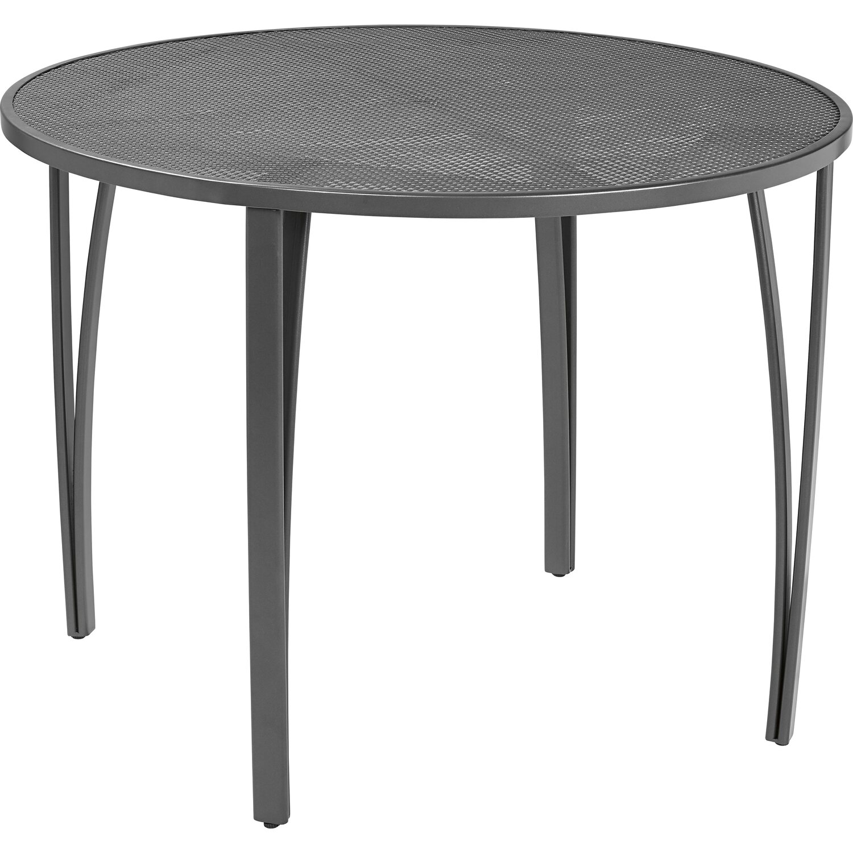 streckmetall gartentisch rund 100 cm anthrazit kaufen bei obi. Black Bedroom Furniture Sets. Home Design Ideas