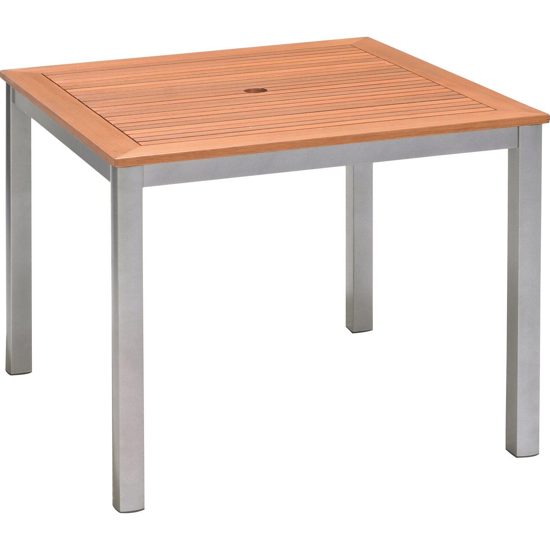 Obi Holz Gartentisch Harris Quadratisch 90 Cm X 90 Cm Silber Kaufen