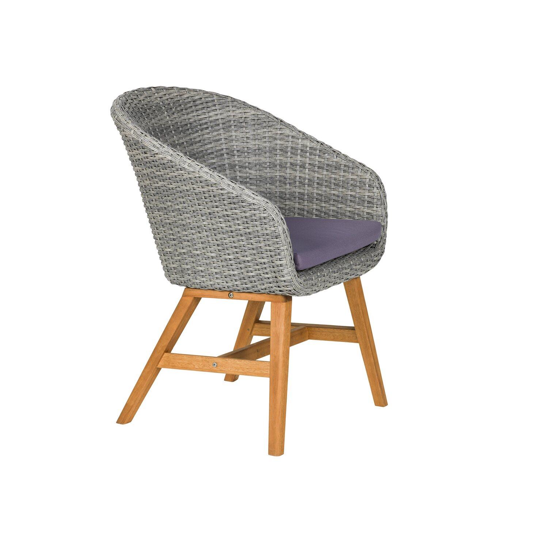 Gartenstuhl design  Greemotion Design-Gartenstuhl Madeira Polyrattan Grau kaufen bei OBI