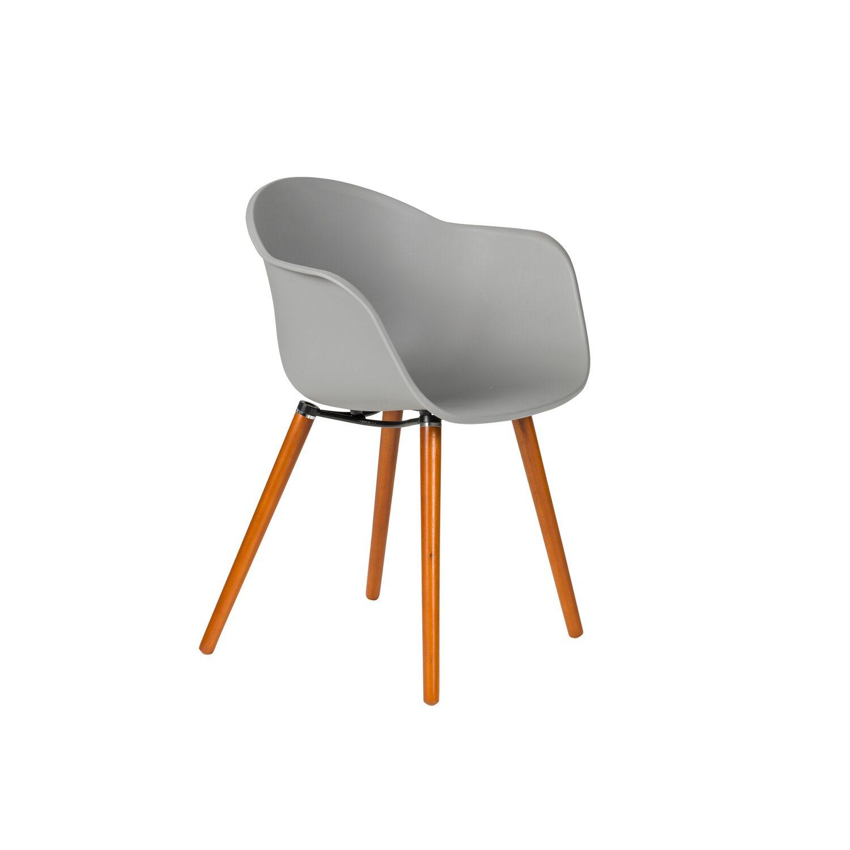 Greemotion Design-Gartenstuhl Derby Kunststoff Grau kaufen bei OBI