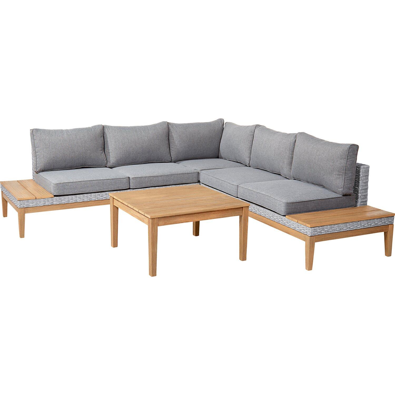 OBI Lounge-Gruppe Hamerson Fossil Polyrattan/Eukalyptus 4-tlg ...