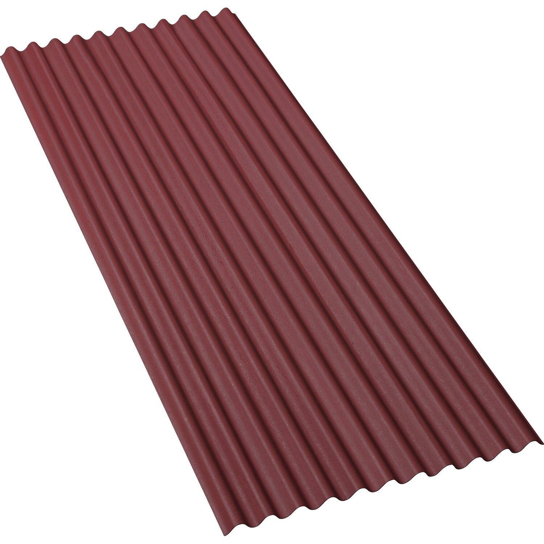 bitumenwellplatte rot 200 cm x 83 cm kaufen bei obi