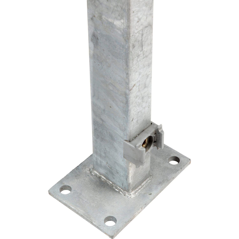 Zaunpfosten Mit Angeschweisster Bodenplatte 129 Cm Verzinkt Kaufen
