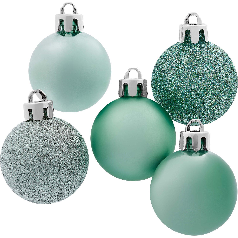 Weihnachts baumkugel set 30 teilig mint kaufen bei obi - Obi weihnachtskugeln ...