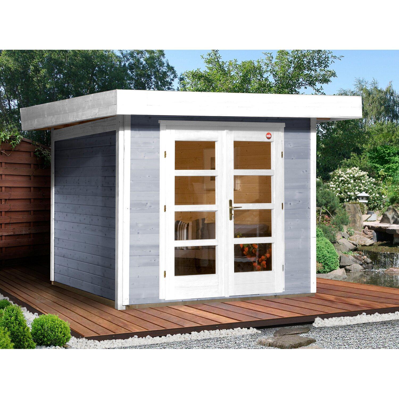 Weka Komfort Design Holz Gartenhaus Savona Gr 1 Grau Bxt 356 Cm X 284 Cm Kaufen Bei Obi