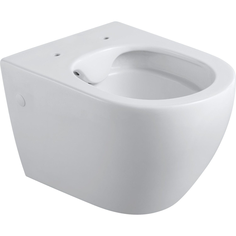 Wand WC Set WC-Sitz Tiefspül Hänge-WC weiß Toilette Klo aus Keramik Spülrandlos