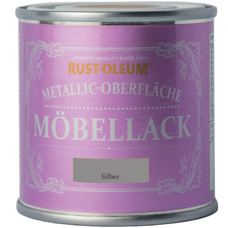 Rust-Oleum Möbellack Metallisch Silber Matt 125 ml