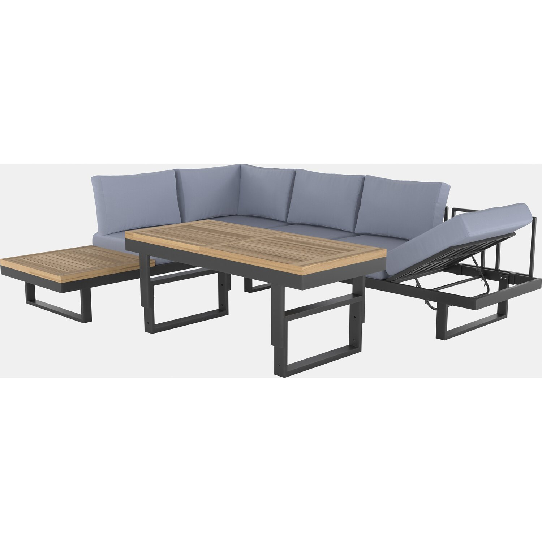 Lounge Set mit Esstisch Mocksville 20 teilig FSC® Anthrazit kaufen ...