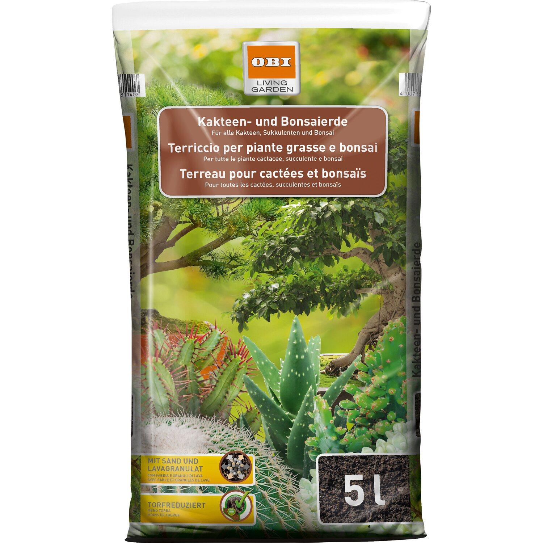 OBI Kakteen- und Bonsaierde 1 x 5 l | Dekoration > Dekopflanzen > Pflanzen | OBI Living Garden