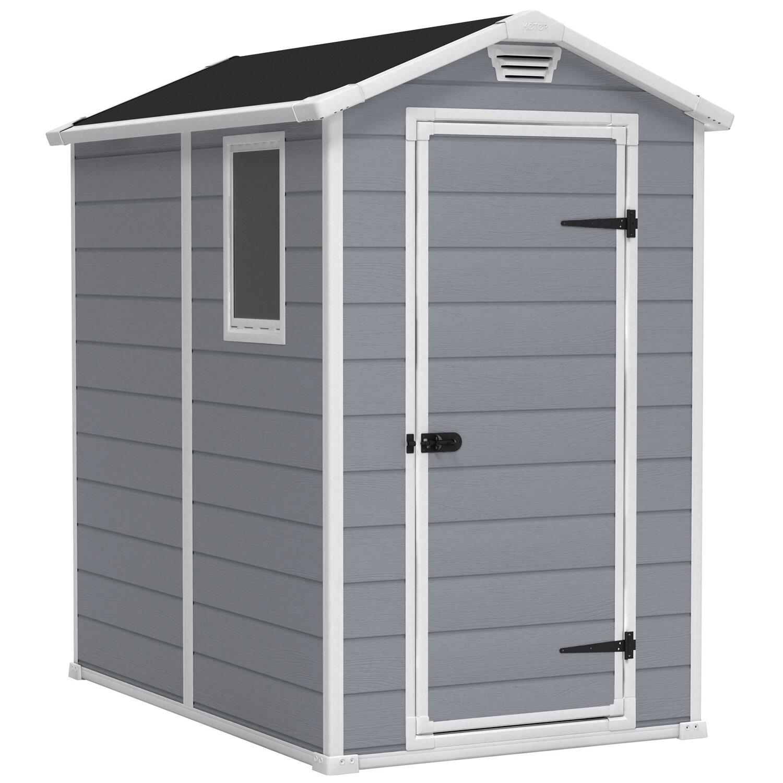 tepro kunststoff gartenhaus manor 46 s grau bxt 118 cm x 184 cm kaufen bei obi. Black Bedroom Furniture Sets. Home Design Ideas