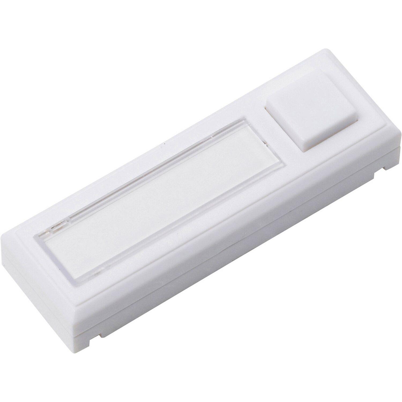 Ordentlich OBI Klingelplatte 1-fach Beleuchtet Weiß 9 cm x 2,8 cm x 0,5 cm  TD35