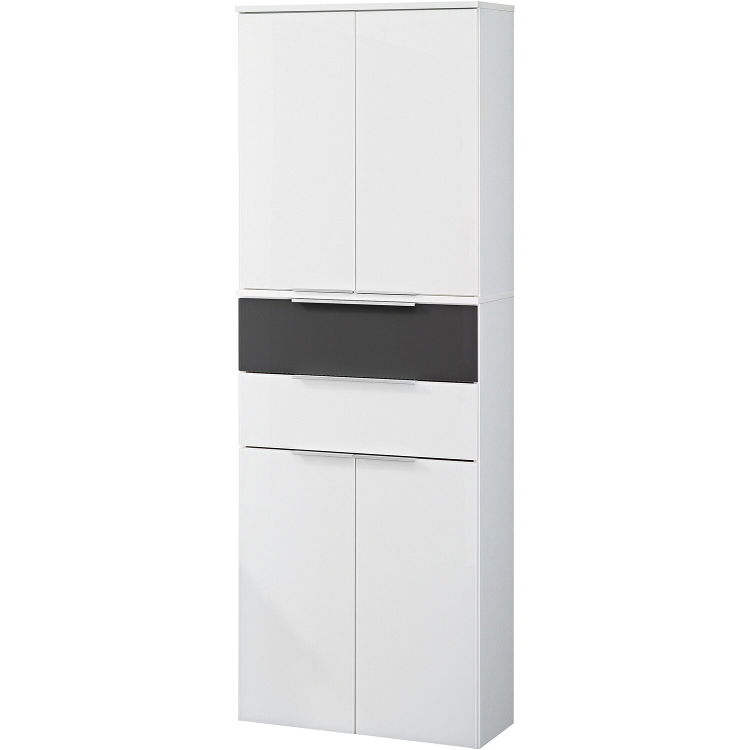 fackelmann hochschrank 61 cm kara bianco wei anthrazit kaufen bei obi. Black Bedroom Furniture Sets. Home Design Ideas