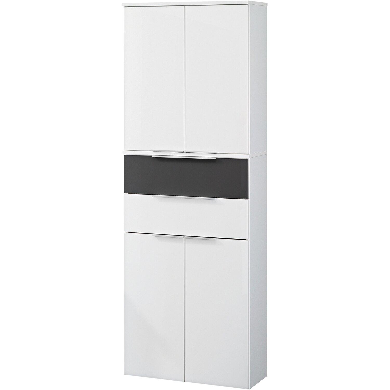 fackelmann hochschrank 61 cm kara bianco wei anthrazit kaufen bei obi. Black Bedroom Furniture Sets. Home Design Ideas