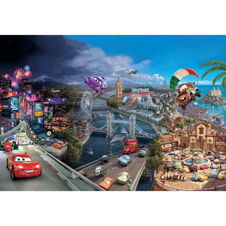 Komar Fototapete Disney Cars World 368 cm x 254 cm