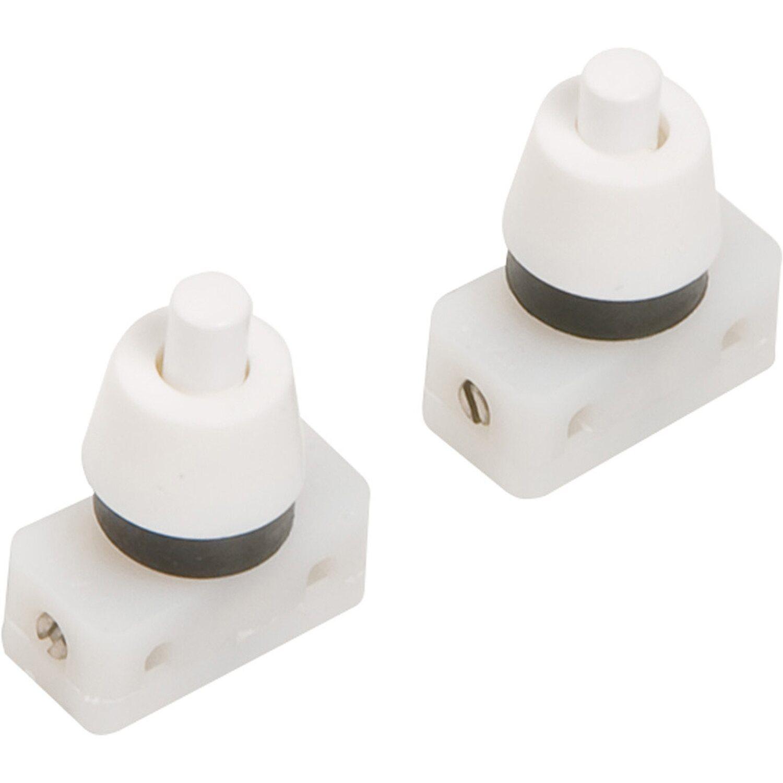 OBI Einbau-Druckschalter Weiß