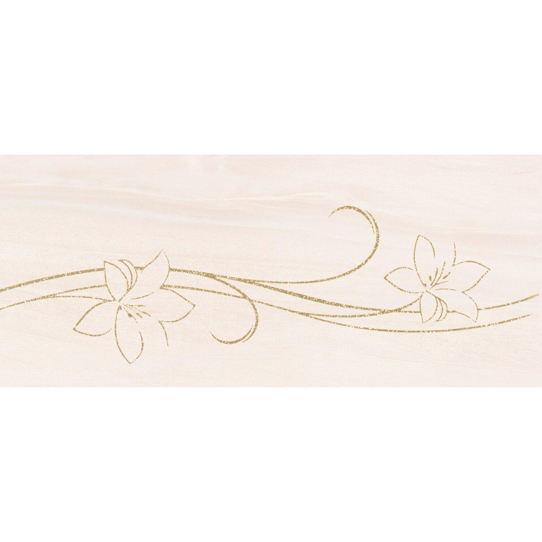 Sonstige 1er Dekor Lupe 30 cm x 70 cm Creme-Gold
