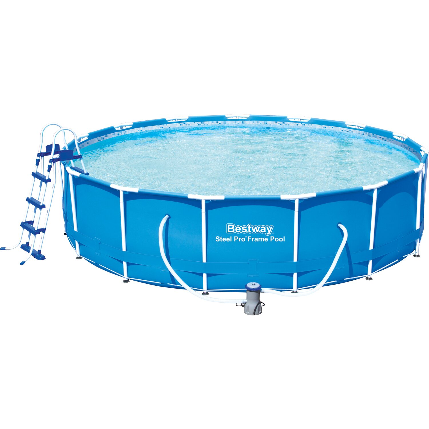 Bestway stahlrahmen pool set 457 cm x 107 cm kaufen bei obi for Obi solarplane pool
