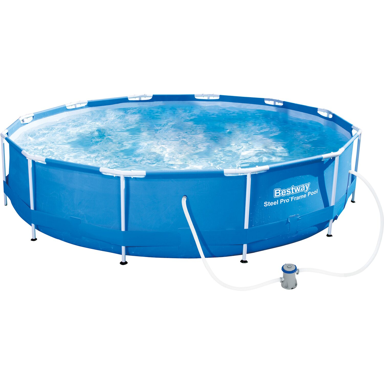Bestway stahlrahmen pool set 366 cm x 76 cm kaufen bei obi for Bestway obi
