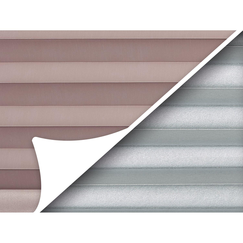 obi verspanntes thermo plissee tona 60 cm x 130 cm grau. Black Bedroom Furniture Sets. Home Design Ideas