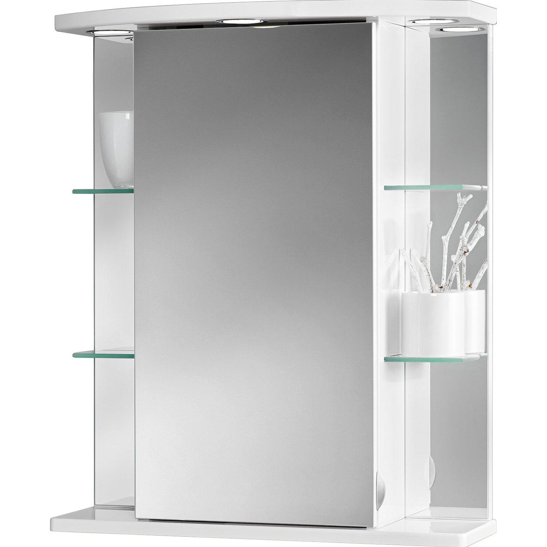 Sehr Sieper Spiegelschrank Havana LED 55 cm x 66 cm x 23 cm Weiß EEK MA42