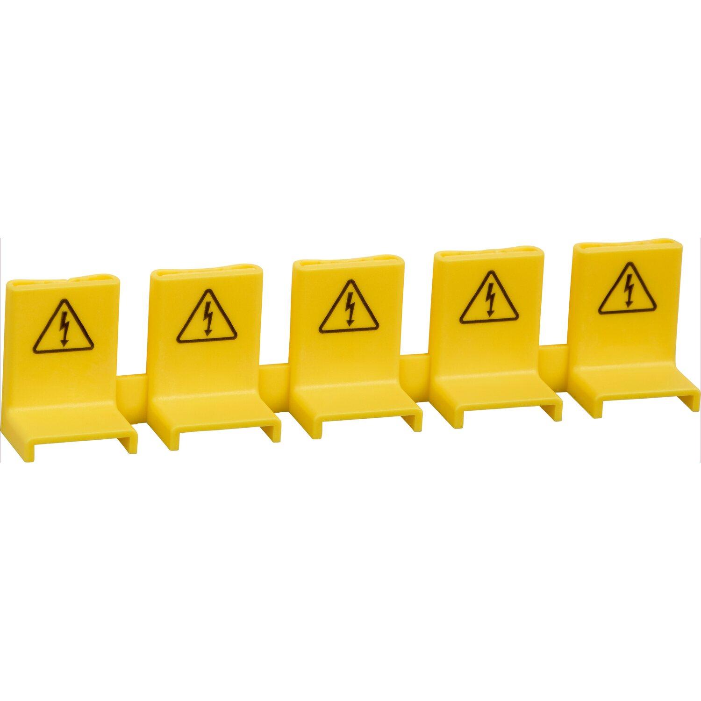 Berührungsschutzkappe Gelb 5 Stk.
