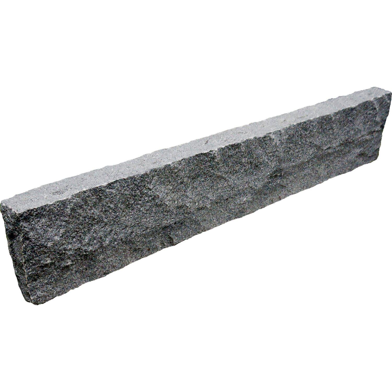 naturstein randstein anthrazit grau 100 cm x 18 cm x 6 cm kaufen bei obi. Black Bedroom Furniture Sets. Home Design Ideas