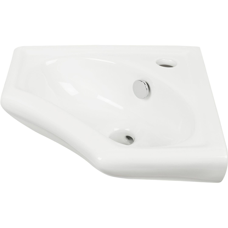AquaSu  scaLma Eck-Handwaschbecken 34 cm Weiß
