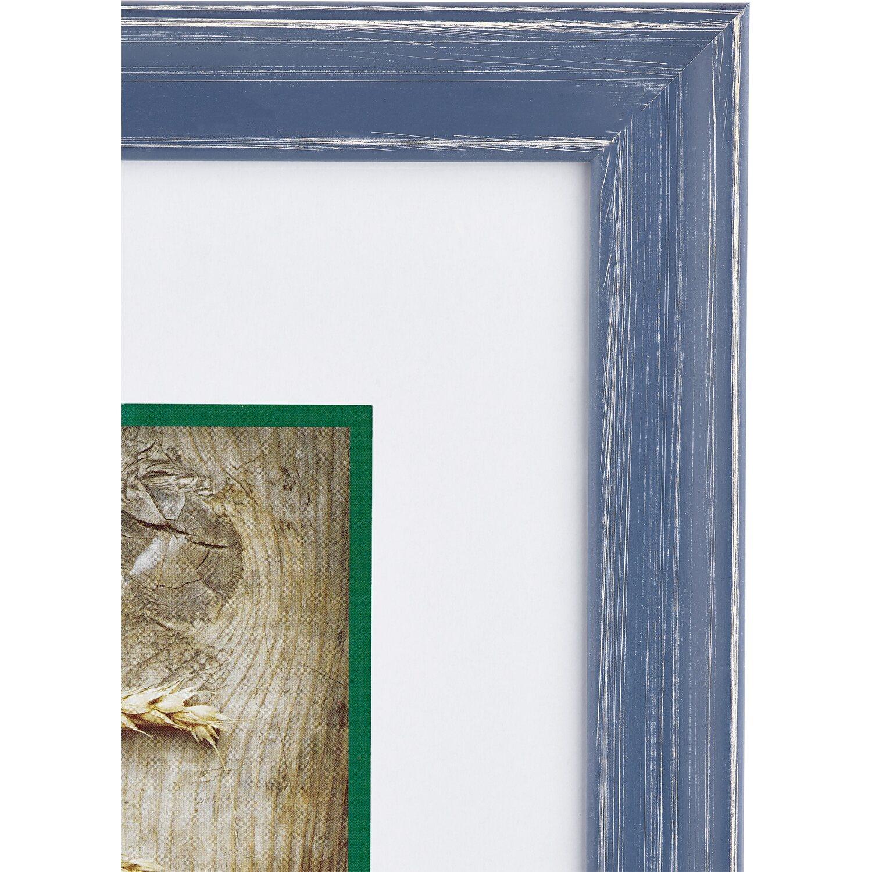 obi holz bilderrahmen blau 30 cm x 40 cm kaufen bei obi. Black Bedroom Furniture Sets. Home Design Ideas