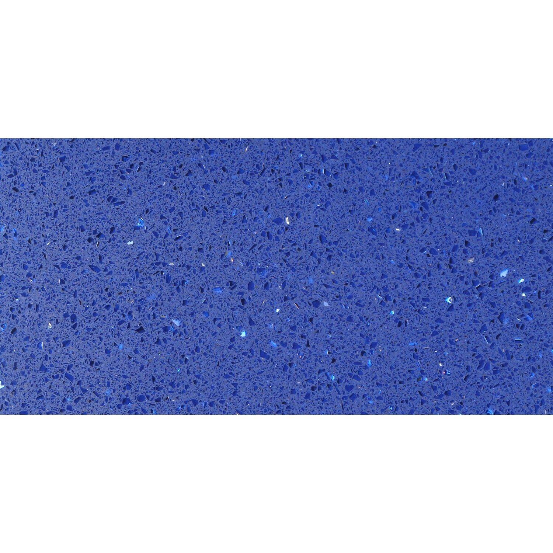 Sonstige Bodenfliese Quarzkomposit Blau 30 cm x 60 cm