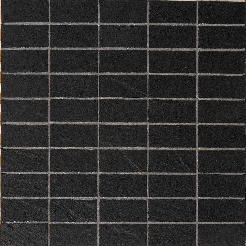 boden dekor vesuvio nero brick 30 cm x 30 cm kaufen bei obi. Black Bedroom Furniture Sets. Home Design Ideas