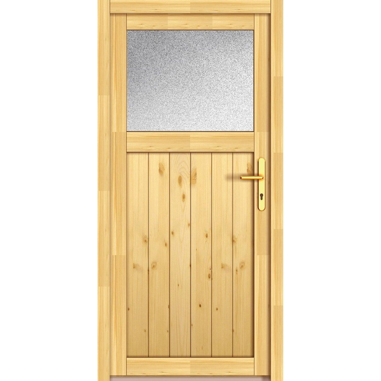Holz-Nebeneingangstür NET 501 Fichte Natur 98 cm x 200 cm Anschlag Rechts   Baumarkt > Modernisieren und Baün   PANTO