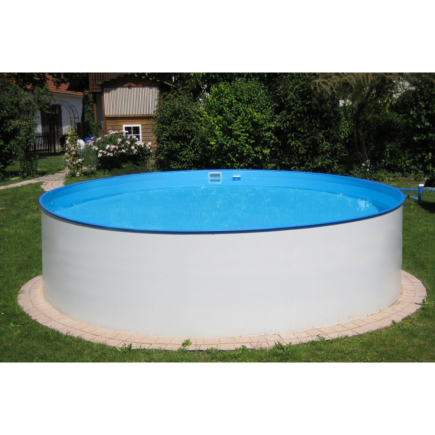 Summer fun stahlwand pool set almeria aufstellbecken 350 for Swimmingpool verkleidung