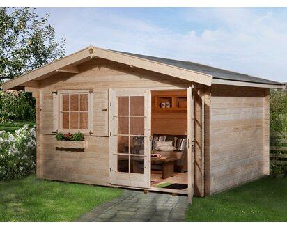 Obi Holz Gartenhaus Panorama Bxt 380 Cm X 300 Cm Kaufen Bei Obi