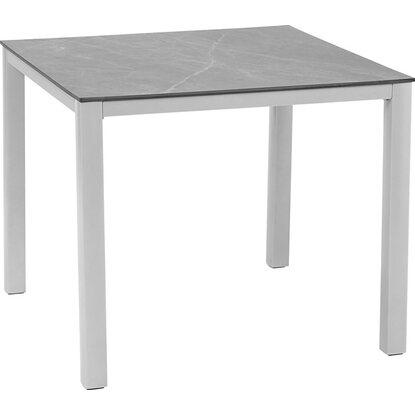 obi hpl gartentisch harris 90 cm x 90 cm silber kaufen bei obi. Black Bedroom Furniture Sets. Home Design Ideas