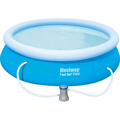Bestway fast set pool mit filterpumpe 274 cm x 76 cm for Bestway pool obi