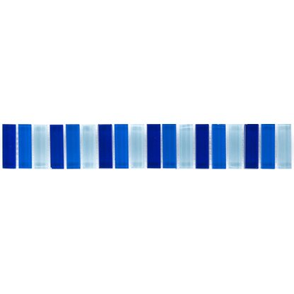 Gut gemocht Bordüre Glasmosaik Blau-Mix 5 cm x 30,6 cm kaufen bei OBI SQ65