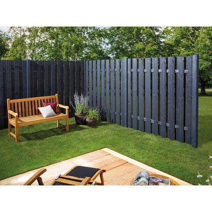 sichtschutzzaun element seattle anthrazit 180 x 180 cm. Black Bedroom Furniture Sets. Home Design Ideas
