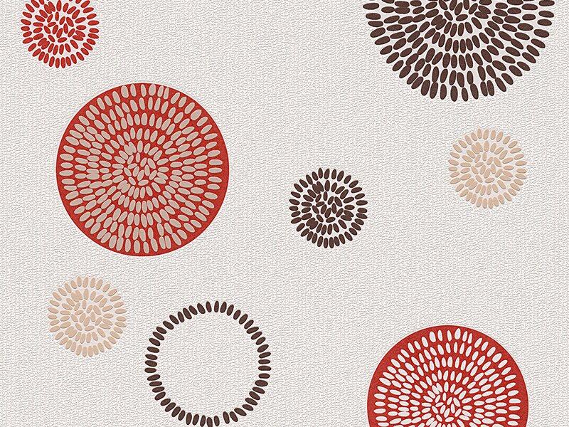 a s creation vliestapete hula hoop punkte rot kaufen bei obi. Black Bedroom Furniture Sets. Home Design Ideas